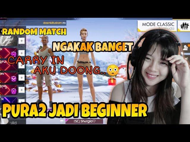 PURA2 JADI PLAYER NEWBIE DI RANDOM MATCH - FREE FIRE INDONESIA