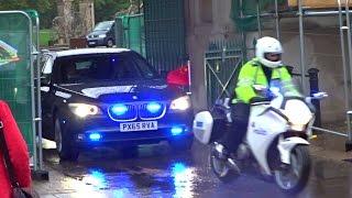 police escorting xi jinping in london   習近平在倫敦的車隊