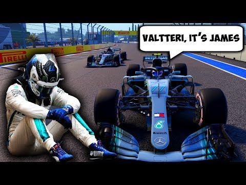 When Valtteri Bottas Leads A Race Parody