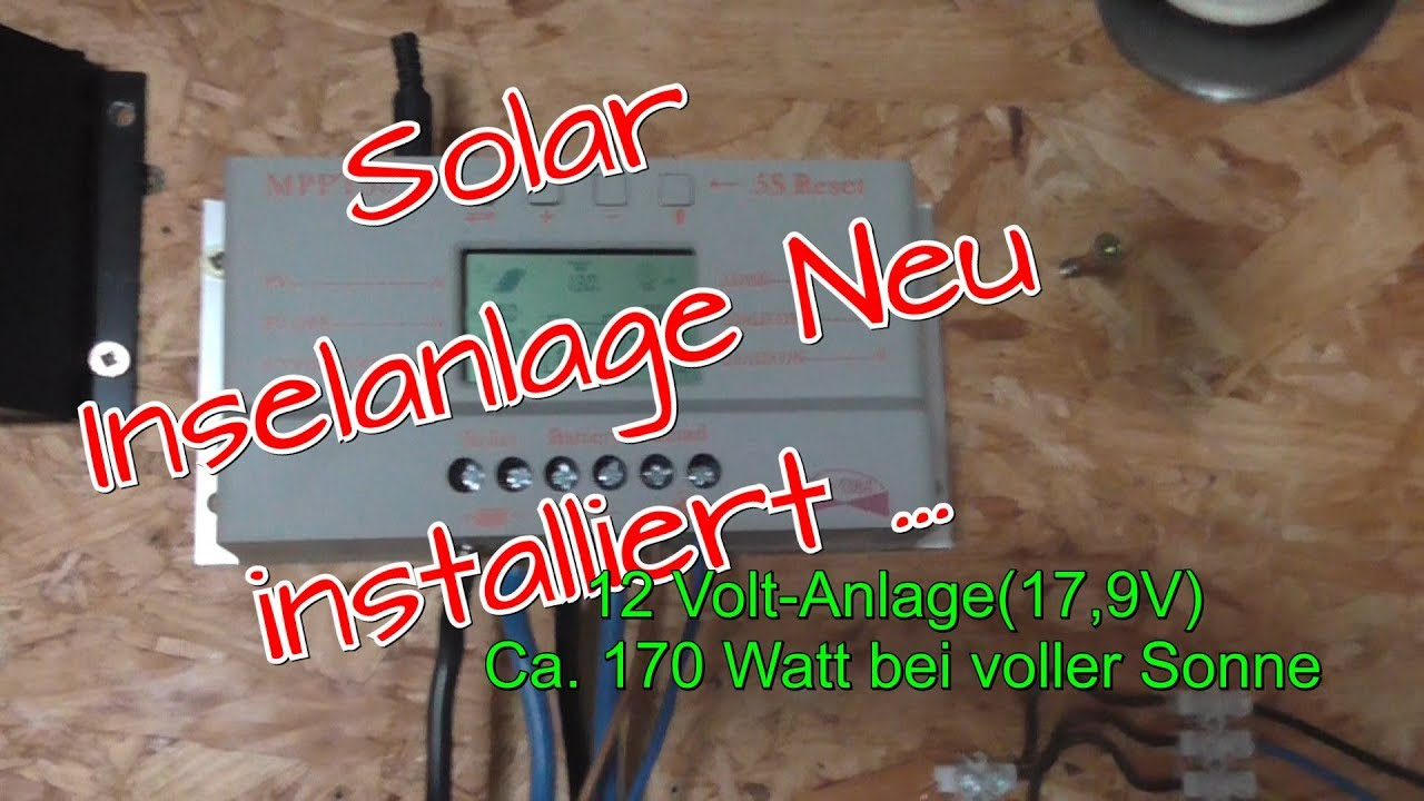 solar inselanlage selber bauen 12 v update youtube. Black Bedroom Furniture Sets. Home Design Ideas