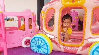 Van, Nam and Daddy Play Hide and Seek with Toys Funny video for kids, BaBiBum