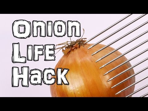 The Easy Way to Cut an Onion? With a Hair Pick