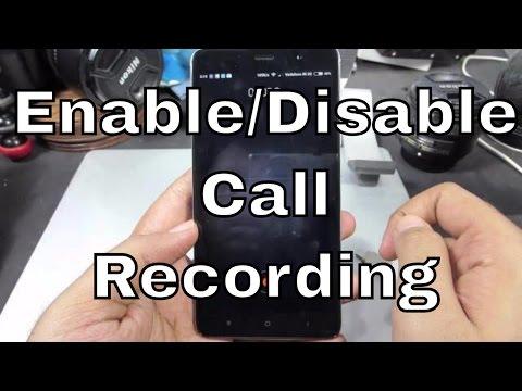 How to Enable or Disable Autocall recording on Redmi Note 3,MI4,Mi5,redmi 3s,Redmi 4,Redmi Note 4