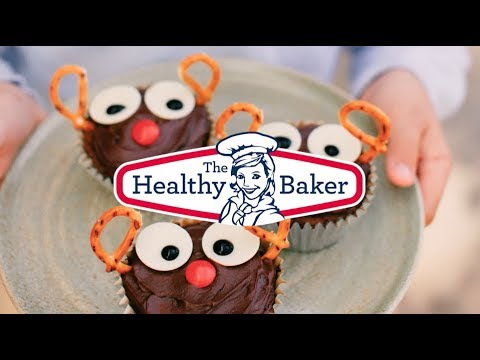 Reindeer Cupcakes brought to you by The Healthy Baker