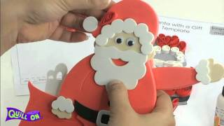 Make your own Quilling Santa - Free Template!