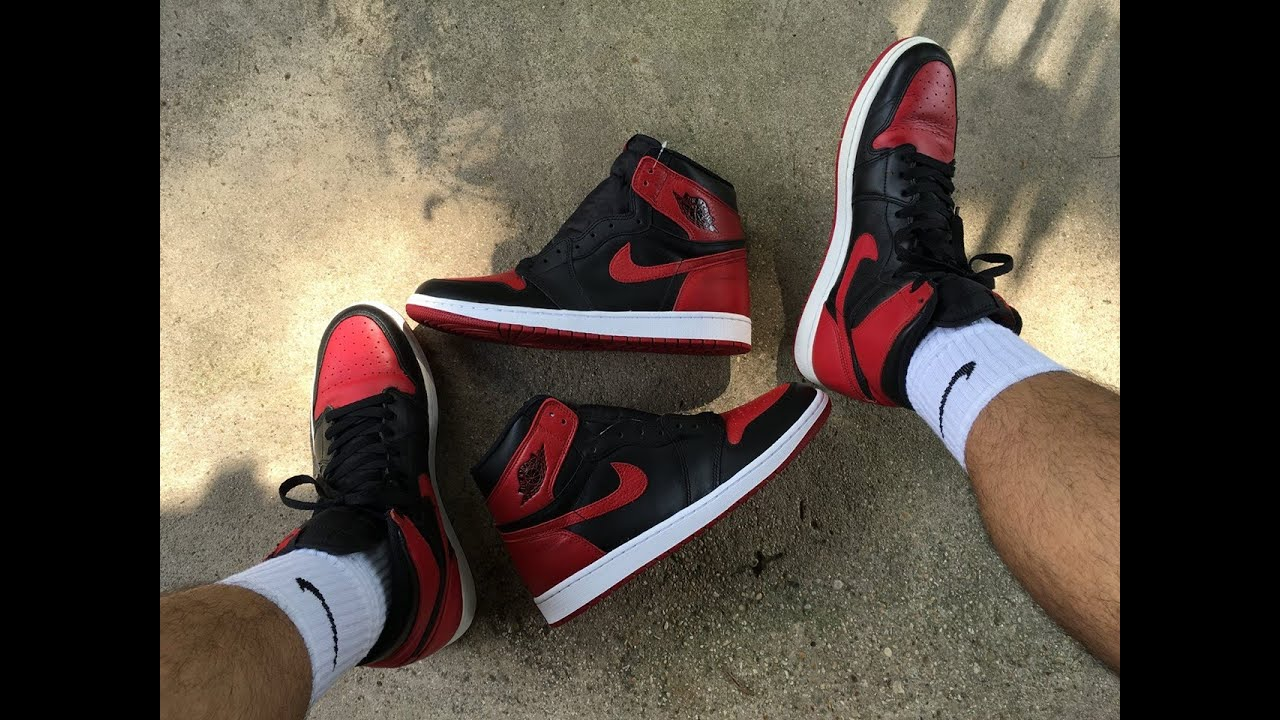 reputable site 9bc18 812b9 Air Jordan 1 Bred 2016 vs Bred 2013! Whats The Difference?