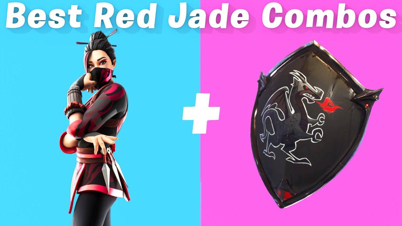7 Best Red Jade Skin + back bling combos in Fortnite - YouTube