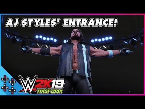 WWE 2K19: AJ STYLES Makes A PHENOMENAL Entrance!