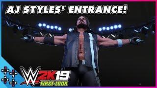 WWE 2K19: AJ STYLES OLAĞANÜSTÜ bir giriş yapar.