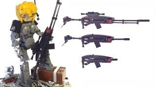 самодельное Лего оружие в масштабе 1:7 (снайперская винтовка, автомат, штурмовая винтовка) LEGO MOC