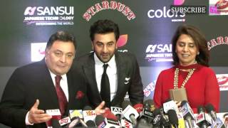 Ranbir Kapoor  Rishi Kapoor  Red Carpet  Sansui Colors Stardust Awards 2016