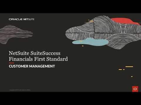 NetSuite SuiteSuccess Financials First Standard: Customers
