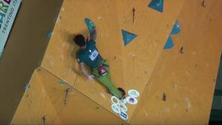 IFSC Lead World Cup Arco - Rock Master 2016, Final, Romain Desgranges