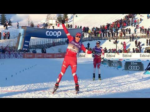 На Первом канале прямая трансляция этапа Кубка мира по лыжным гонкам из Лиллехаммера.