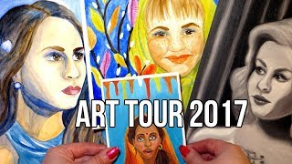 My Art Tour 2017 || Acrylic, Watercolor and Oil Paintings Collection