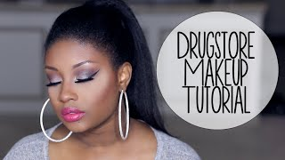 Drugstore Makeup Tutorial | Glam Holiday Party Look (Cool Toned Eyes + Hot Pink Lips)!