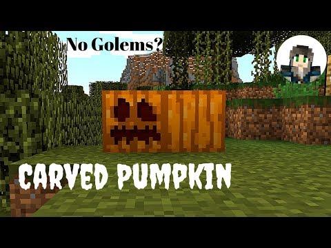 Carved Pumpkins For Golems And Jack-o-Lanterns Minecraft 1.13/Tutorial