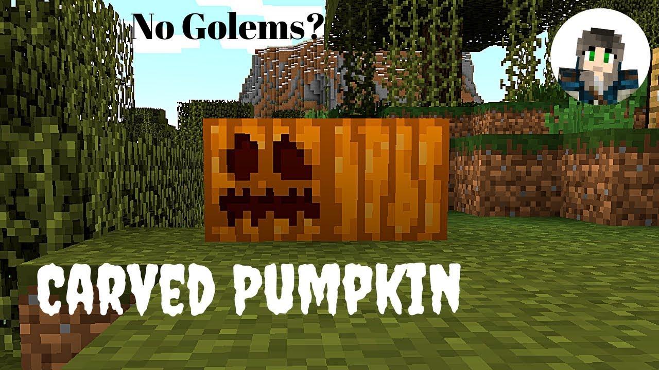 Carved Pumpkins for Golems and Jack-o-Lanterns Minecraft 1 ...