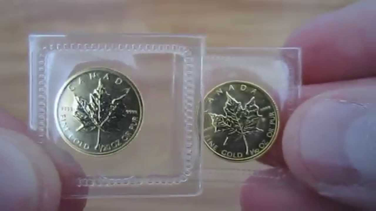 1 20 Oz Gold Canadian Maple Leaf 9999 Fine Youtube