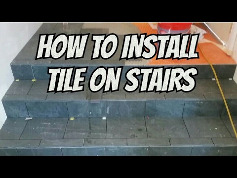 HOW TO INSTALL TILE ON STAIRS AND LANDING PREVIEW - YouTube