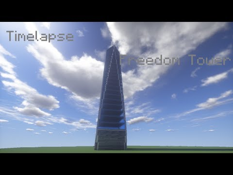 Minecraft Freedom Tower Timelapse