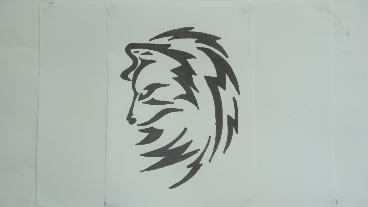 How To Draw Wolf Tribal Tattoo Design #7