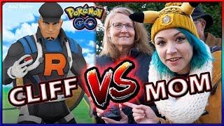 CLIFF vs MY MOM! PvP BASICS IN POKÉMON GO! (Thanksgiving)