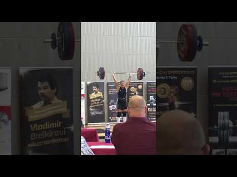 Eliise Peterson Clean & Jerk 114 kg - Estonian record -90kg kat.