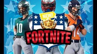 *NFL X FORTNITE BATTLE ROYAL* ALL NEW FORTNITE SKINS, EMOTES, HARVESTING TOOLS AND MORE! EXCLUSIVE!