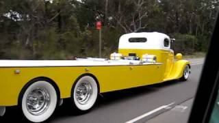 cruising in the fc and 35 chev towtruck