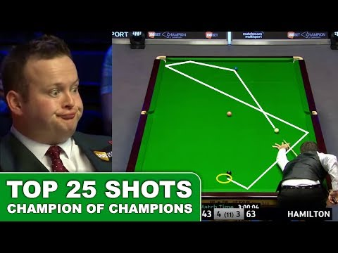TOP 25 GREATEST SHOTS!!! Champion Of Champions Snooker 2017