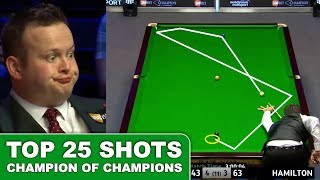 Snooker Shots - TOP 25 GREATEST SHOTS!!! Champion Of Champions Snooker 2017