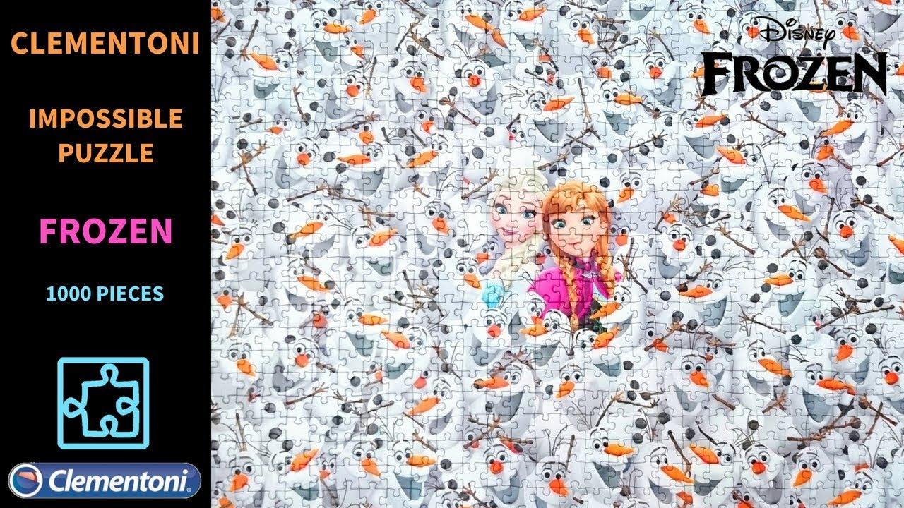 Nouveau Clementoni Disney Frozen 1000 Pièce Impossible Puzzle