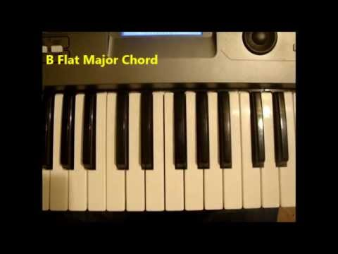 How To Play A B Flat Major Chord On Piano And Keyboard - Bb