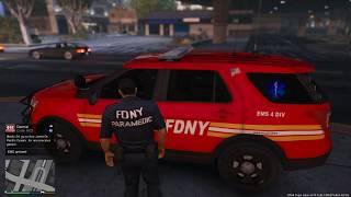Gta 5 Emergency Mod FDNY Paramedic Explorer  (EMS Mod Day 2)
