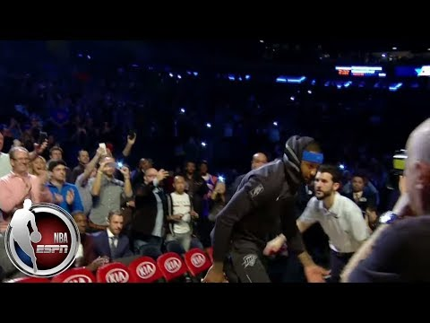 New York gives Carmelo Anthony a warm welcome in his return to Madison Square Garden | ESPN