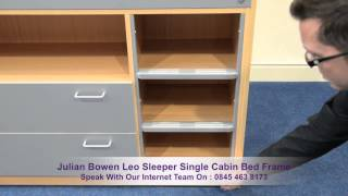 Julian Bowen Leo Sleeper Single Cabin Bed Frame