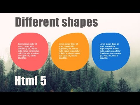 Different Shapes For Services Section || Website Design || Html 5 & Css 3