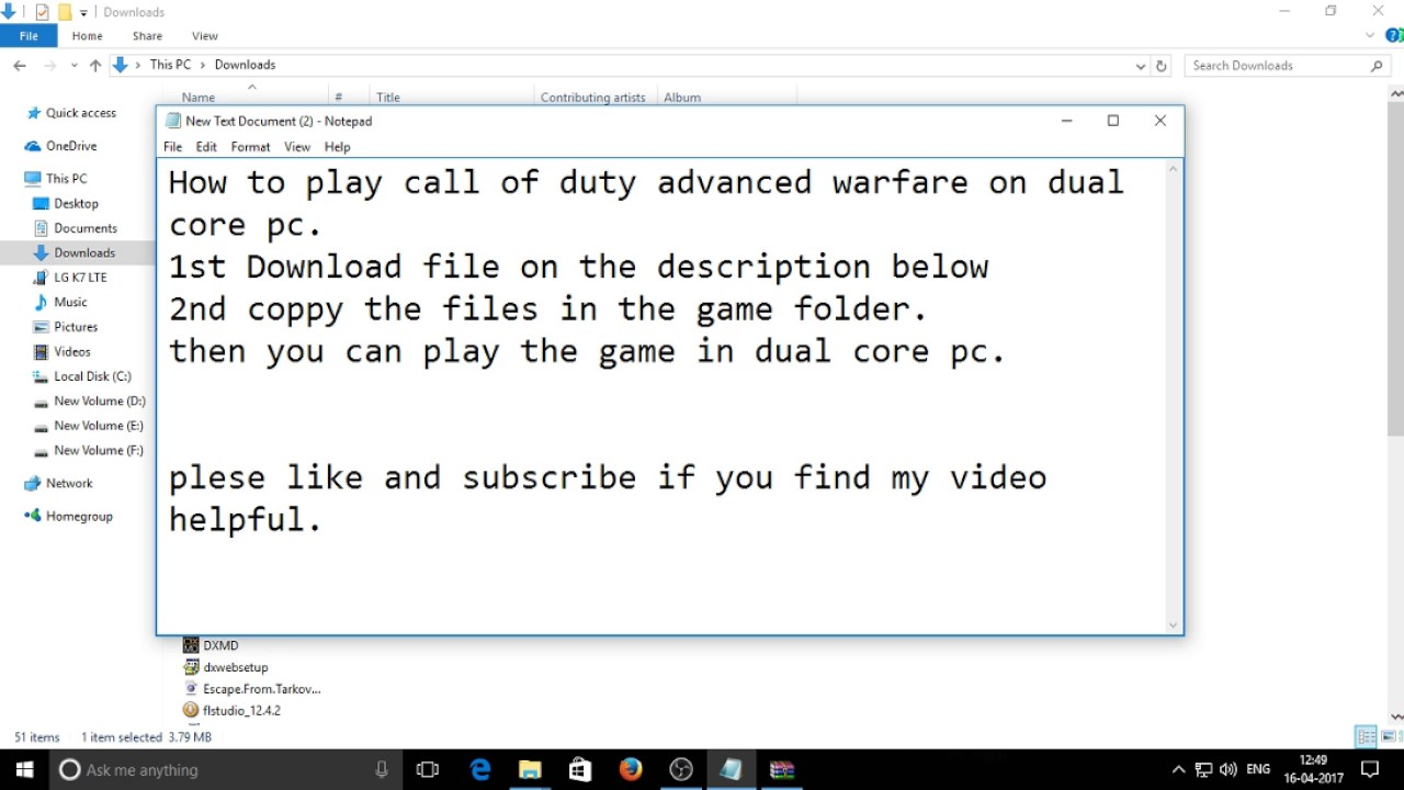 Call Of Duty Cpu Error Fix 100 Working Youtube Processor Lga1150 G3240 310ghz Dual Core