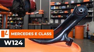 Návod: Jak vyměnit přední podélné zadní rameno na MERCEDES-BENZ E W124