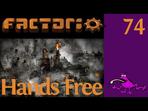 Let's Play Factorio Hands Free Ep #74, operation stone depos
