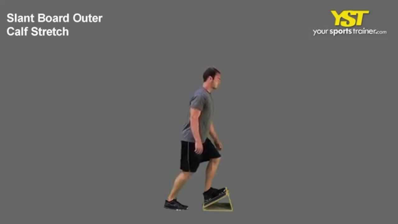 Slant Board Outer Calf Stretch Youtube