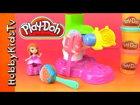 PLAY-DOH Lollipop, Popsicle Maker Set -Sophia the First, Jade, Bad Piggies Travel Video