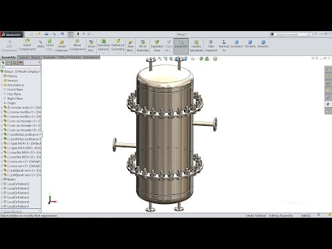 Solidworks tutorial | Sketch Chemical Reactor in Solidworks