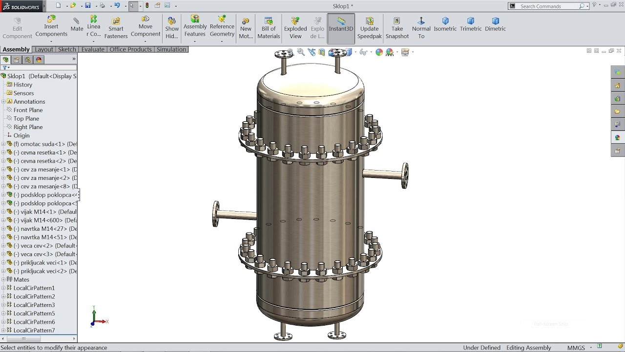 solidworks tutorial sketch chemical reactor in solidworks youtube