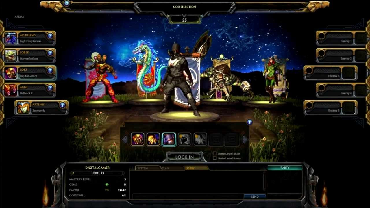 smite how to get free skins