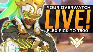YourOverwatch Ranked Stream! - Flex to T500!