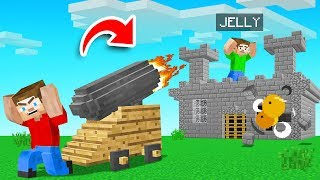 WE MADE A Minecraft Server WITH CANNONS ONLY! (join us)