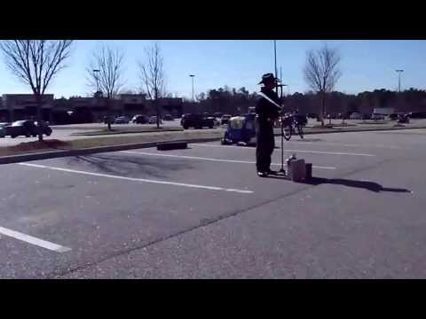 Scuba Steve Performing in the Walmart parking lot, Rockingham NC