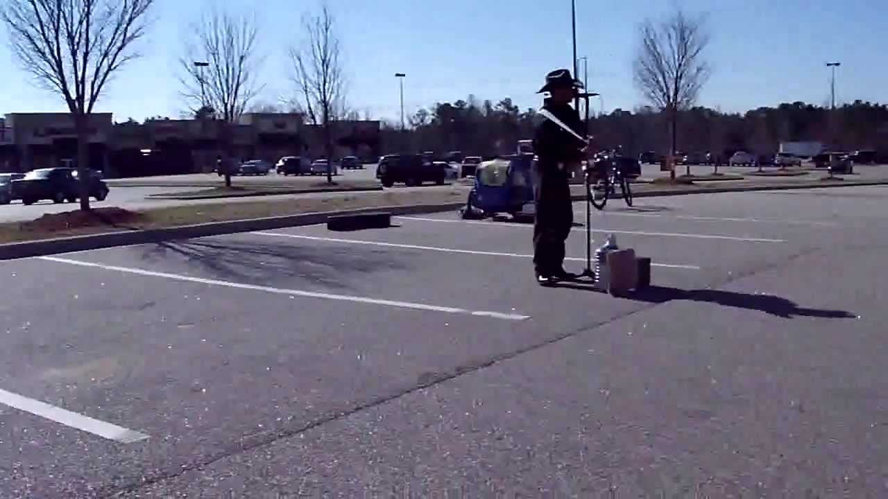 Scuba steve performing in the walmart parking lot for 4 t s diner rockingham nc